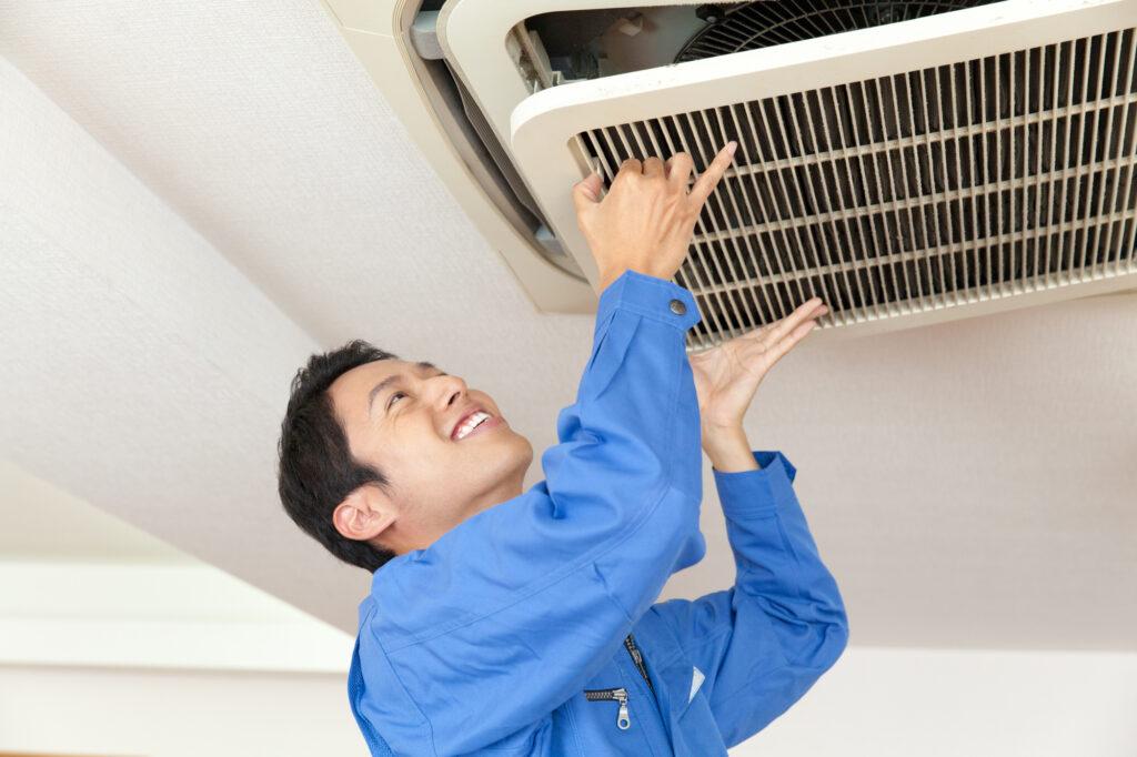 天井埋め込みエアコンクリーニング業者